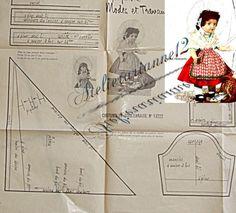 ❤ Patron original , poupée Marie Françoise MODES ET TRAVAUX, Février 1961 ❤ : 4,99 EUR