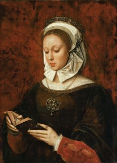 Ambrosius Benson - Young Woman in Orison Reading a Book of Hours. 1532