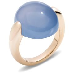 Pomellato Ring Luna ($4,610) ❤ liked on Polyvore featuring jewelry, rings, blue, pomellato, pomellato rings, cabochon jewelry, blue ring and blue jewelry