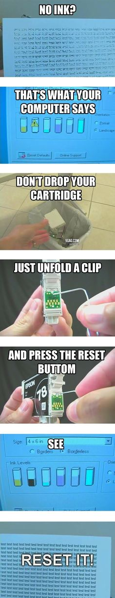 How to get the last bit of ink out of your cartridge this really does work I do it all the time...some cartridges you have to press in the place where you would refill...