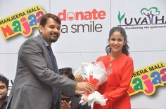 Actress Lavanya Tripathi at a Charity Event