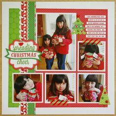 Day 1- A Doodlebug North Pole Christmas Scrapbook Layout