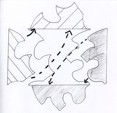 Escher Kunst, Escher Art, Mc Escher, Tessellation Patterns, Art Activities For Kids, School Art Projects, Arts Ed, High Art, Art Lesson Plans