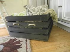 The Diligent One: Custom wooden crates