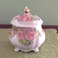 Hand-painted biscuit jar