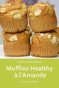 Ultra soft, no added sugars and maxi greedy. Healthy Dessert Recipes, Diabetic Recipes, Cooking Recipes, Diabetic Desserts, Dessert Light, Almond Muffins, Bowl Cake, Healthy Muffins, Muffin Recipes