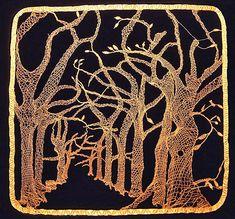Veranderende bomen, een herfstwandeling in Central Park. Lieve Jerger. Copper lace
