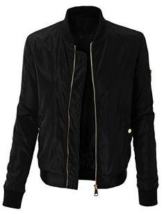 70446906e6d LE3NO Womens Plus Size Classic Zip Up Varsity Bomber Jacket with Pockets.  Women s Fall JacketsBomber ...