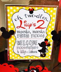 Photo 18 of Mickey Mouse Clubhouse or Minnie Mouse / Birthday Oh Twodles Lilly is 2 Mickey Mouse Clubhouse Birthday Party, Mickey Mouse Parties, Mickey Party, Mickey Mouse Birthday, Disney Parties, Second Birthday Ideas, 3rd Birthday Parties, Birthday Fun, Ideas Prácticas