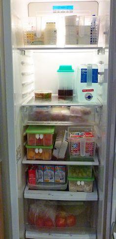 Een opgeruimde koelkast.