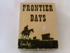 Vintage Cactus Craft Wagon Wooden Model Kit No. 638 Frontier Days W/instructions