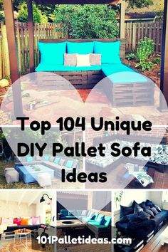 Top 104 Unique DIY Pallet #Sofa Ideas | 101 Pallet Ideas - Part 15 - Pallet #Patio Furniture