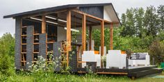 adelaparvu.com despre chiosc de gradina in stil industrial, design Liudmila Verba, Foto Olga Oliushina (12)