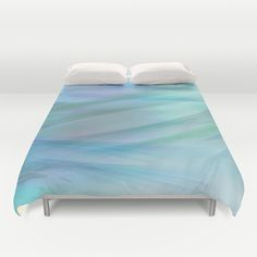 Soft Feathered Pastel Abstract Duvet Cover