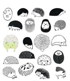 Ways to draw hedgehogs. These are so easy