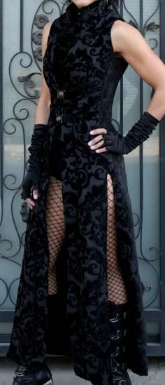 Necromantic Coat by Shrine of Hollywood Clothing.