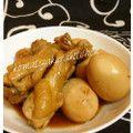 鳥手羽元と卵のさっぱり煮
