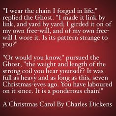 My Favorite Quotes from A Christmas Carol #16 - It is a ponderous chain!