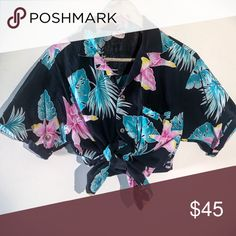 519d3c451 Shop Women's Vintage Black Blue size M Button Down Shirts at a discounted  price at Poshmark. The perfect look for summer vacations!