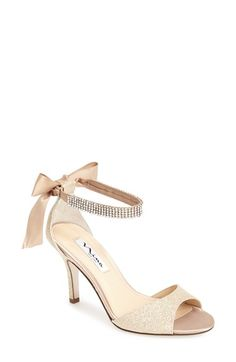 Nina  Vinnie  Crystal Embellished Ankle Strap Sandal (Women) available at  Comes in baby blue satin! a0040077c324
