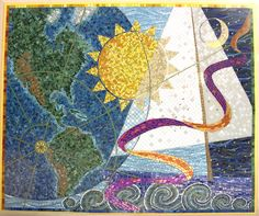 mosaics in hospital settings of projects completed at Boston Childrens Hospital, Nemours Hospital in Orlando, FL etc