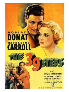 """""""The 39 Steps"""" starring Robert Donat and Madeline Carroll"""