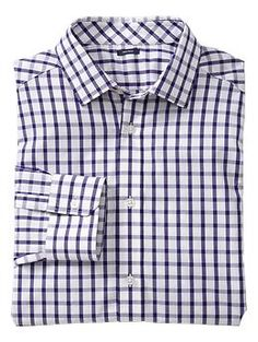 Non-Iron big checkered shirt (slim fit) - No more ironing or dry cleaning! Specially treated fabrics, taped seams, and tight topstitching make our new non-iron dress shirts crease-free right out of the dryer. In a range of colors and patterns, and with a new improved fit, theyre an amazingly low-maintenance wear-anywhere option.