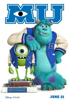 Monsters University (2013). Randall and Sully are back. Loved the book titles.