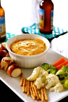 Beer Cheese Dip - The Curvy Carrot