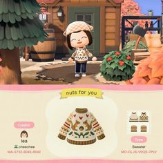 Animal Crossing Qr Codes Clothes, Animal Crossing Game, Motif Acnl, Motifs Animal, Path Design, All About Animals, Animal Games, New Leaf, Alien Logo
