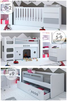 But with the help of Siegel's Baby's Room, it can be a dream come true! Baby Bedroom, Nursery Room, Kids Bedroom, Toddler Bunk Beds, Kid Beds, Nursery Furniture, Kids Furniture, Cama Junior, Childrens Room Decor