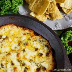 Hot Low Carb Spinach Dip with Cheese