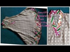 Casual dress designing cutting and stitching casual frock for girls latest designs - YouTube
