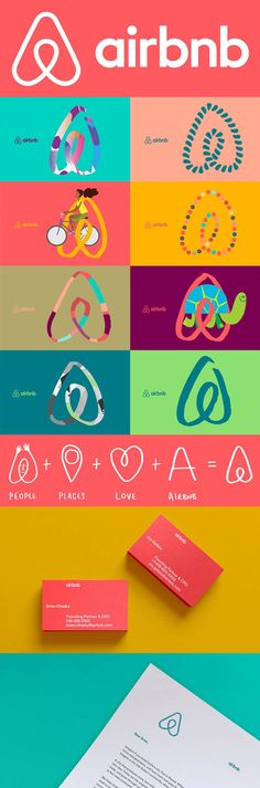 Airbnb Brand Identity - this website is actually awesome and should definitely remember when traveling!