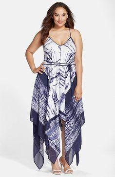 fa6721780c27c Adrianna Papell Handkerchief Hem Maxi Dress (Plus Size) Plus Size Maxi  Dresses