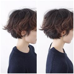 Pin on ヘアスタイル Asian Short Hair, Short Wavy Hair, Short Hair Tomboy, Tomboy Hairstyles, Pretty Hairstyles, Tomboy Haircut, Shot Hair Styles, Curly Hair Styles, Androgynous Hair