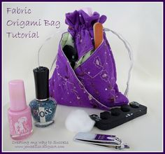Creating my way to Success: Fabric Origami Bag - photo tutorial