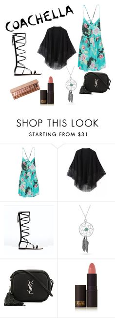 """""""Coachella needs!"""" by alexis-nieto ❤ liked on Polyvore featuring Billabong, Relaxfeel, Bling Jewelry, Yves Saint Laurent, Lipstick Queen and Urban Decay"""