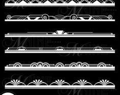Gold ART DECO FRAME Clip Art: Art Deco Frames by MNINEDESIGNS