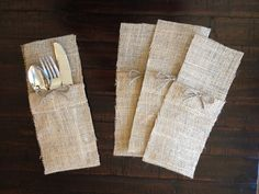 Set of 20 Burlap Place Settings for a by LaceTwineAndBurlap, $39.00