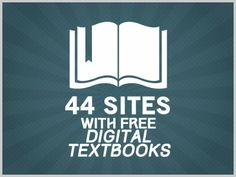 44 Sites With Free Digital Textbooks