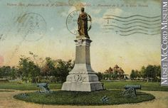 This statue of Queen Victoria once stood in Victoria Park, Quebec QC was destroyed by separatists in 1963.
