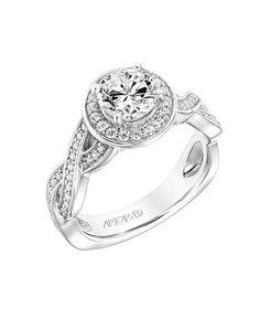 ArtCarved diamond halo engagement ring with open twist prong I Style: 31-V771ERW-E.00 I https://www.theknot.com/fashion/31-v771erw-e00-artcarved-engagement-ring?utm_source=pinterest.com&utm_medium=social&utm_content=june2016&utm_campaign=beauty-fashion&utm_simplereach=?sr_share=pinterest