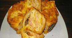 Υλικα: Έτοιμο φύλλο κρούστας κασέρι ζαμπόν 1 αυγό. Εκτέλεση Βάζουμε λίγα φύλλα κρούστας μέσα σε βουτυρωμένη φόρμα, στρώνουμε κασέ...