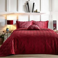Fountain Deco Wine Jacquard Bedspread by Kaleidoscope Art Deco Movement, Duvet Sets, Bed Spreads, Perfect Match, Wine, Fountain, Comforters, Duvet Covers, Pillow Cases