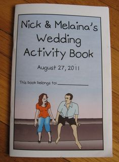 DIY activity book for the children at your wedding