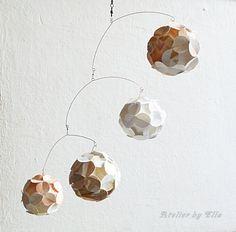 Paper balls Mobile Unique by AtelierByElla on Etsy