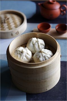 "Chicken Buns Recipe (Chinese Steamed Buns) - soft and pillowy chinese steamed buns filled with meat & vegetables. need to ""TRY"" these, just need to eat them again Chicken Buns, Steamed Chicken, Steamed Buns, Chicken Dumplings, Chinese Dumplings, Pork Buns, Easy Asian Recipes, Wrap Recipes, Snack Recipes"