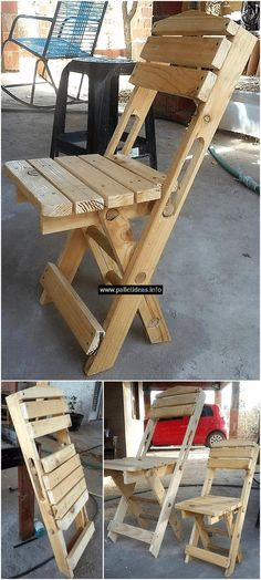 We are proudly going to present another thought-provoking use of useless wood pallets. This wooden pallet folding chair is simple and easy to construct and at the same time, you can create this at reasonable price. It is best to use in offices, schools, in your home's garden etc.  #chairs #pallets #woodpallet #palletfurniture #palletproject #palletideas #recycle #recycledpallet #reclaimed #repurposed #reused #restore #upcycle #diy #palletart #pallet #recycling #upcycling #refurnish #recycled
