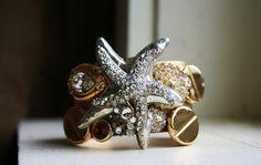 Starfish Cuff - one of a kind cuff Bracelet  direct link http://shelbilavender.com/cuffs-and-bracelets/8591965549_91f1bb1a2d_c-1/